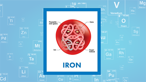 For February, it's iron — atomic No. 26