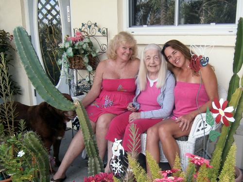 Jacqui Berg with her daughter Jodi and friend KC Jones