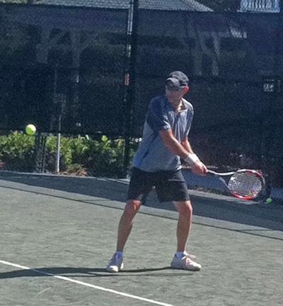 Jeffrey Pessin playing tennis
