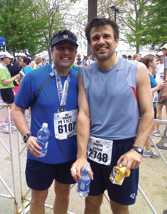 John Denu at half-marathon