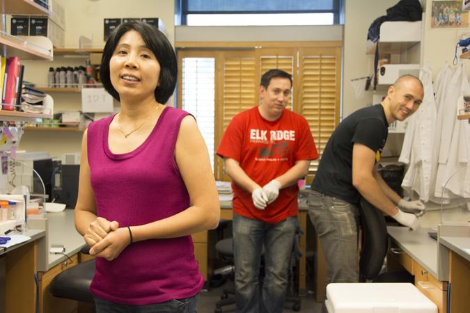 Zhou in lab