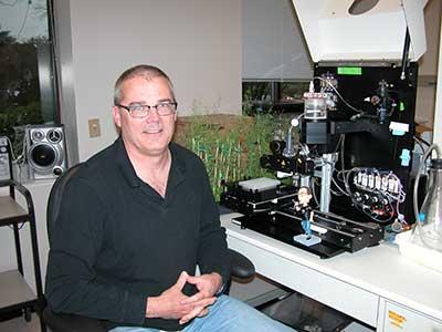 Milo Aukerman in lab
