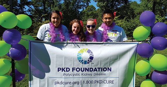 Matthew Cheung and his friends volunteered at the Polycystic Kidney Disease Foundation annual walk in 2015.