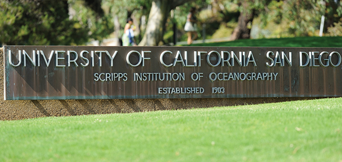 A sign at the University of California, San Diego Scripps Institution of Oceanography.